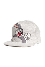Cotton cap with a motif - Grey/Looney Tunes - Kids | H&M 1