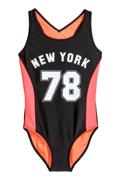 Sports swimsuit - Black/New York - Kids | H&M CN 1