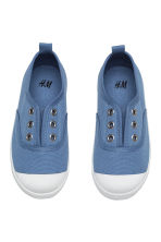 Cotton canvas trainers - Blue -  | H&M CN 2