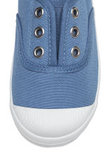 Cotton canvas trainers - Blue -  | H&M CN 4