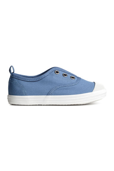 Cotton canvas trainers - Blue -  | H&M CN 1