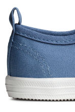 Cotton canvas trainers - Blue -  | H&M CN 3