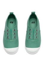 Cotton canvas trainers - Green - Kids | H&M CA 2