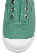 Cotton canvas trainers - Green - Kids | H&M CN 4