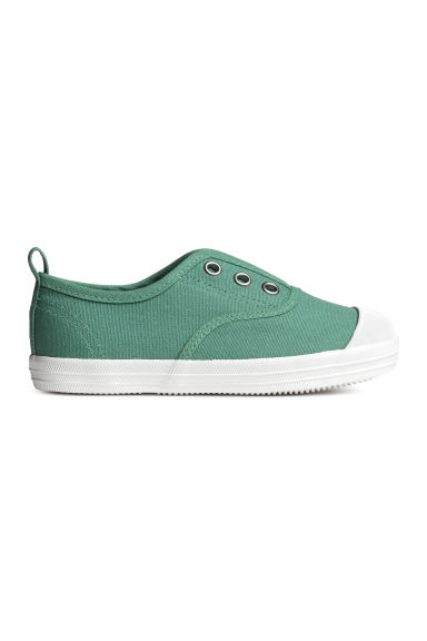 Cotton canvas trainers - Green - Kids | H&M CA 1