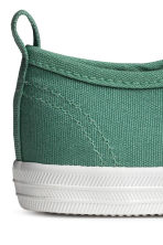Cotton canvas trainers - Green - Kids | H&M CN 3