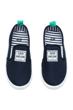 Slip-on trainers - Dark blue - Kids | H&M CN 2