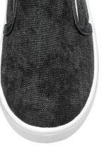 Slip-on trainers - Dark grey washed out -  | H&M 4