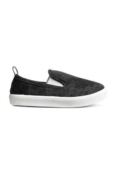 Slip-on trainers - Dark grey washed out -  | H&M 1