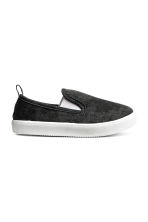 Slip-on trainers - Dark grey washed out - Kids | H&M 1