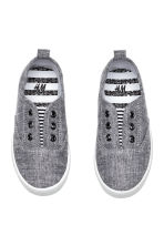 Canvas trainers - Grey/Chambray - Kids | H&M CN 2