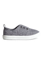 Canvas trainers - Grey/Chambray - Kids | H&M 1