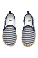 Slip-on espadrilles - Dark blue/Striped -  | H&M 2