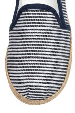 Slip-on espadrilles - Dark blue/Striped -  | H&M 4
