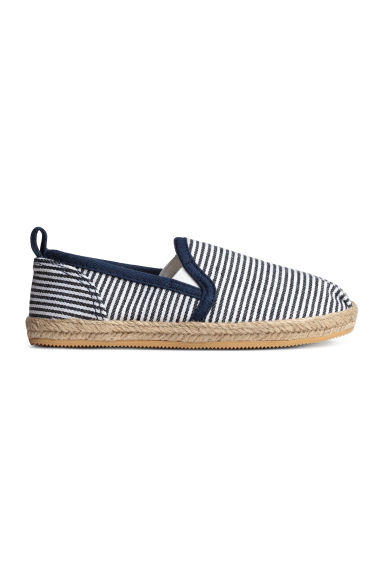 Slip-on espadrilles - Dark blue/Striped -  | H&M 1