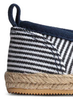 Slip-on espadrilles - Dark blue/Striped -  | H&M 3