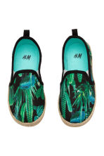 Slip-on espadrilles - Black/Cactus - Kids | H&M CN 2