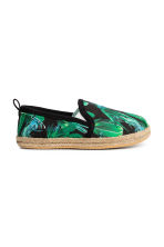 Slip-on espadrilles - Black/Cactus - Kids | H&M 1