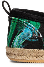 Slip-on espadrilles - Black/Cactus - Kids | H&M CN 3