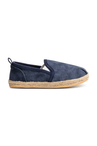 Slip on-sneakers - Mörkblå washed out - BARN | H&M FI