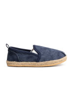 Slip-on espadrilles - Dark blue washed out - Kids | H&M 1