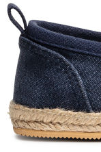 Slip-on espadrilles - Dark blue washed out - Kids | H&M 3