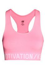 Sports bra Low support - Neon pink - Ladies | H&M 2