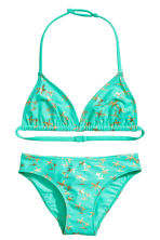 Triangle bikini - Turquoise/Palms - Kids | H&M 1