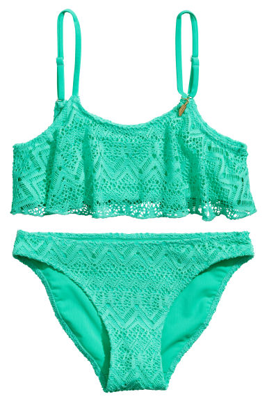 Lace bikini - Mint green - Kids | H&M 1