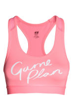 Sports bra Medium support - Neon pink - Ladies | H&M 2