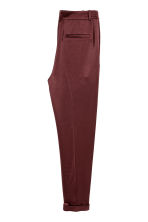 Satin trousers - Burgundy - Ladies | H&M 3
