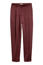 Satin trousers - Burgundy - Ladies | H&M 2