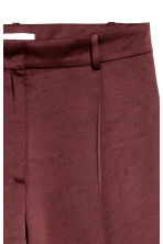 Satin trousers - Burgundy - Ladies | H&M 4