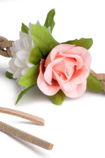 Hairband with flowers - Light beige - Kids | H&M CN 2