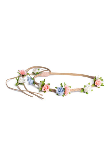 Hairband with flowers - Light beige - Kids | H&M CN 1