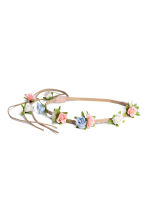 Hairband with flowers - Light beige - Kids | H&M 1