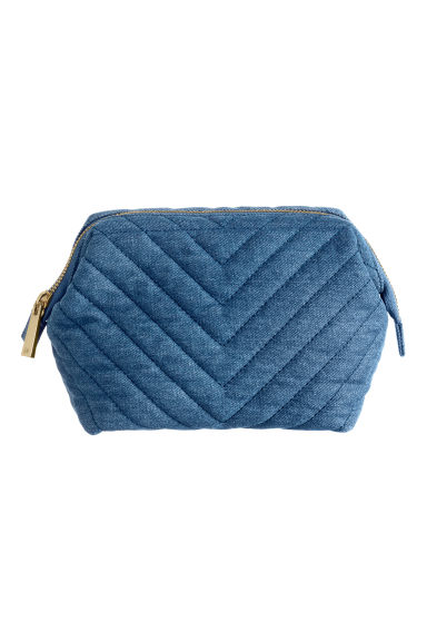 Makeup Bag - Denim blue - Ladies | H&M CA 1