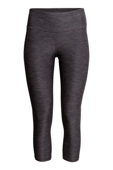 3/4-length sports tights - Dark grey marl - Ladies | H&M CN 1