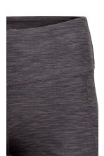 3/4-length sports tights - Dark grey marl - Ladies | H&M CN 2