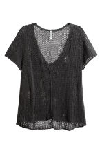Loose-knit top - Black - Ladies | H&M CN 2
