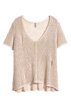 Loose-knit top - Light beige - Ladies | H&M CA 2