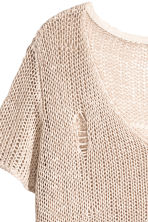 Loose-knit top - Light beige - Ladies | H&M CA 3