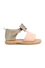 Appliquéd sandals - Powder pink/Gold - Kids | H&M 2