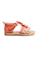 Appliquéd sandals - Coral - Kids | H&M 2