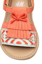 Appliquéd sandals - Coral - Kids | H&M 4