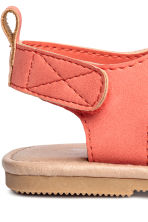 Appliquéd sandals - Powder/Coral -  | H&M 3