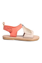 Appliquéd sandals - Powder/Coral -  | H&M 2