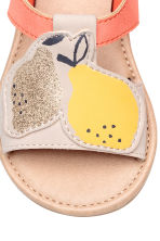Appliquéd sandals - Powder/Coral - Kids | H&M 4