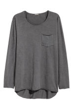 Long-sleeved T-shirt - Dark grey - Men | H&M CN 1
