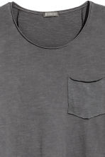 Long-sleeved T-shirt - Dark grey - Men | H&M CN 2